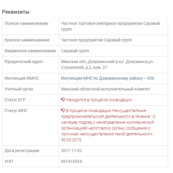 Автоматическая проверка реквизитов компании