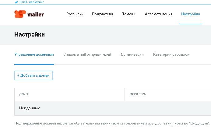 домен почтового адреса email-рассылка
